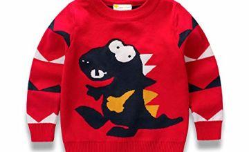 Little Hand Christmas Jumper Kids Boys Sweatshirt Cotton Top