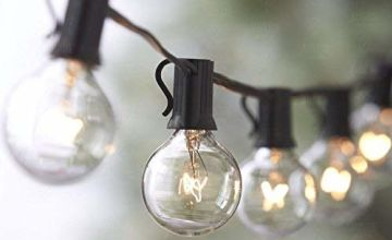 Globe Festoon String Light Bulb 27Ft G40 Indoor Outside Waterproof Lixada