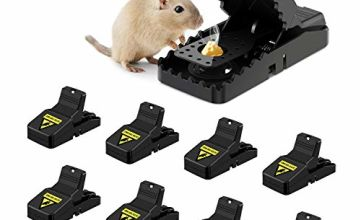 Awroutdoor 8 pack Mouse Trap, Reusable Mice Rat Trap for Indoors and Outdoors,Rodent Trap Mouse Kill Quick Response, High Sensitive Mouse Catcher, Safe for Family and Pet,Easy to Set Mouse Control