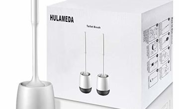 Hulameda Toilet Brush and Holder 2 Pack