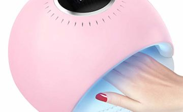 UV LED Nail Lamp, 84W Nail Polish Dryer Automatic Sensor 42 UV Light Curing Beads 3 Timer Professional Manicure/Pedicure for UV Gel/UV Builder/Gel Nail Polish, Home, Manicure Store Nail Art -Laluztop