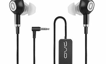 OVC Active Noise Cancelling Earbuds Earphone Wired Headphone - 60 Hours ANC Playtime, Dual Driver, Bass Enhancement, Volume Control with Microphone, 3.5mm Plug for Android