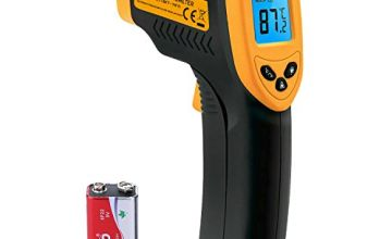 Etekcity Lasergrip 774 Non-contact Digital Laser IR Infrared Thermometer, -50°C - 380°C ( -58°F~716°F ), Instant Read Temperature Gun, Yellow/Black(Not suitable for measuring body temperature)