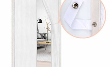 Fly Screen Door, 2020 Upgrade Magnetic Insect Screen Door Screen Mesh Curtain with Tie-Back, Easy to Install Without Drilling (90 * 210cm)