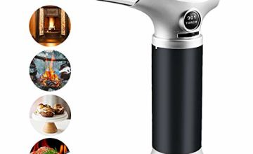 Blow Torch, Refillable Butane Gas Torch Lighter, Adjustable Flame Chefs Blow Torch for Creme Brulee, Kitchen, Cooking