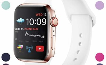 Hamily Compatible With Apple Watch Strap 38mm/40mmmm 42mm/44mm, Soft Silicone Waterproof Replacement for iWatch Series 5/4/3/2/1, Multi Colours