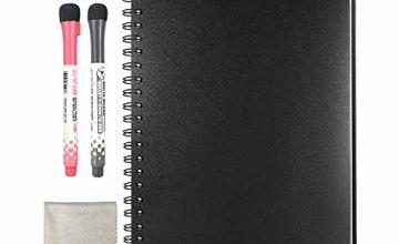 HOMESTEC Dry Erase Memo Notebook A4 Hardback Board Alternative White Board