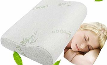 Cervical Contour Neck Pillow - Memory Foam Pillow Standard Bamboo Pillow Cervical Health Care Orthopedic Pillow Massage Sleep Neck Pillows - Soft Supportive Washable Hypoallergenic Pillow 50×30cm