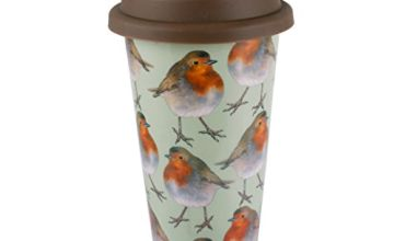 "Save on ""Into The Wild"" Robin Porcelain Travel Mug by Creative Tops, 350 ml (9 fl oz) and more"