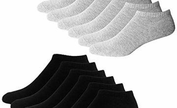YouShow Short Socks Men Women 10 Pairs Ankle Sneaker Half Socks Booties Cotton Unisex OEKO-TEX Standard 100