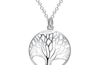 Tree of Life Necklace Hollow Out Family Tree Pendant Charm B