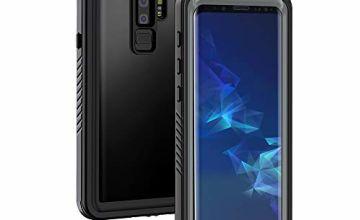 Lanhiem Samsung S9+ Plus Case, IP68 Waterproof Dustproof Sho