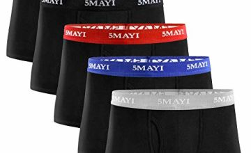 5Mayi Mens Underwear Boxers Shorts Cotton Underwear Trunks 3D Pouch Men Boxers Multi Pack S M L XL XXL