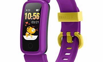 BIGGERFIVE VIGOR Fitness Tracker Watch for Kids Girls Boys Teens, Activity Tracker, Pedometer, Heart Rate Monitor, Sleep Monitor, Vibrating Alarm Clock, IP68 Waterproof Step Calorie Counter Watch