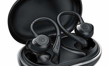 Bluetooth Headphones, Muzili Bluetooth Earphones Bluetooth Wireless Headphones 25H Playtime Stereo Sound True Wireless Earphones Earbuds with Mic for Running, Stereo Calls, Instant Pairing