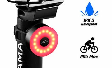 DONPEREGRINO M2 - Compact LED Bike Rear Light up to 90 Hours Battery Life, USB Rechargeable Bicycle Tail Light with 5 Steady Flash Modes