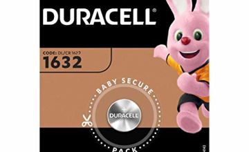 Duracell 1632 Lithium 3 V Non-rechargeable Battery – Batteries (Lithium, Button/coin, 3 V, 1 pc (S), CR1632, 137 mAh)