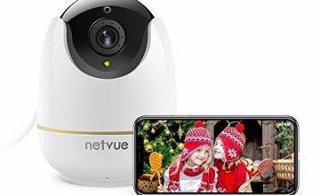 1080P Security WiFi Camera, Netvue Wireless Home Cam Compatible with Alexa Echo Show IP Camera Baby Monitor