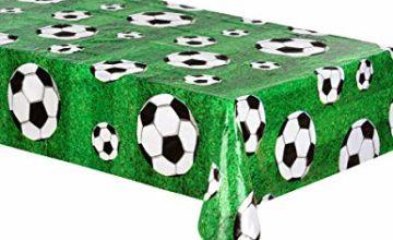Boland 62509 Tischdecke Table Cloth, Soccer, Multicoloured, 120 x 180 cm