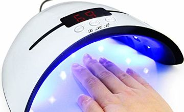 LED UV Nail Lamps for Gel Nail Polish Nail Dryer Curing Lamp with 3 Timers Auto Sensor LED Digital Display USB Plug Carry Convenient