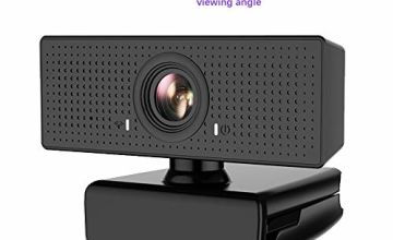 HD Webcam 1080P with microphone, Beneno Auto Focus Streaming Computer Camera for Video Calling, Recording, Conferencing, Gaming, 110-Degree Widescreen Web Camera with 360°
