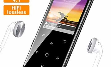 SUPEREYE MP3 Player, 16G Portable Lossless Sound MP3 Players with Bluetooth 4.1, Backlit Keys, Support up 64G, Music Headphones Included