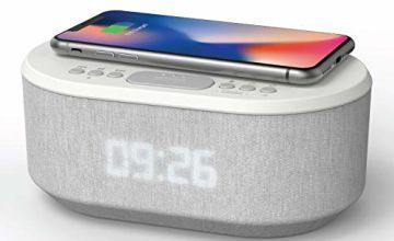iBox Roost Bedside Speaker for Echo Dot 2nd Generation with LED Alarm Clock and USB Charging Port