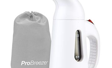 Pro Breeze Garment Steamer 850 Watt. Compact and Portable Handheld Fabric Steamer with Ultra-fast Heating Element and Travel Pouch