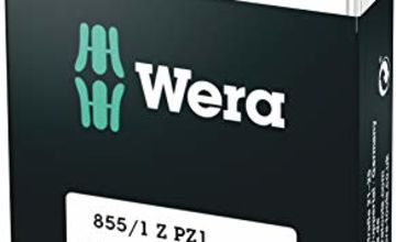 Wera 05072403001 Pozidriv Extra-Tough Bits 855/1 Z PZ1 x 25 mm, Pack of 10