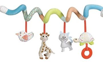 Sophie la girafe Activity Spiral Baby Toy for Strollers, Cribs, and Car Seats