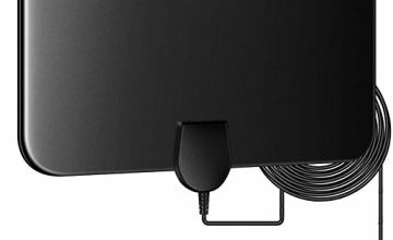 TV Aerial Indoor 60 Miles Digital HDTV Antenna Freeview 4K 1080P HD FM VHF UHF Window Aerial for Local Channels Support ALL Television-13ft Coax Cable