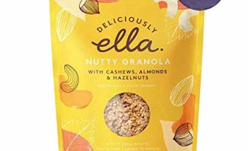 Deliciously Ella - Nutty Granola, Gluten-Free, Vegan Friendly, Healthy Breakfast, 500g (4 Bags)
