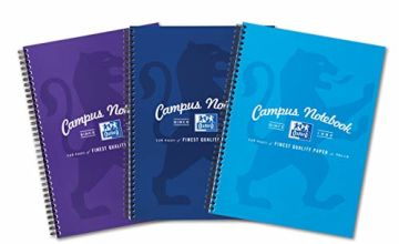 Save on A4 Notebook, Oxford Campus - Assorted Colour, Pack of 3 and more