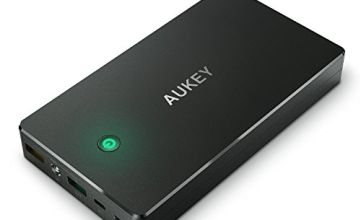 AUKEY Quick Charge 3.0 Power Bank 20000mAh, Portable Charger with Lightning & Micro USB Input, 2 Output for iPhone X/ 8/ Plus/ 7/ 6s, Samsung S8+/ S8, iPad