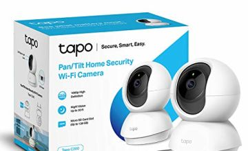 TP-Link Pan/Tilt Security Camera, Indoor CCTV, 360°rotational views, Works with Alexa&Google Home, No Hub Required, 1080p, 2-Way Audio, Night Vision, SD Storage, Free Tapo Camera App(Tapo C200)