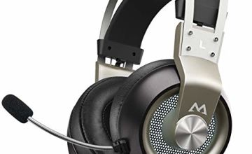 Mpow EG3 Pro Gaming Headset - Stereo Surround Sound Xbox Headset with Noise Cancellation Mic & In-Line Control, Over-Ear Gaming Headphones with LED Light, Compatible with PC/Xbox One/PS4