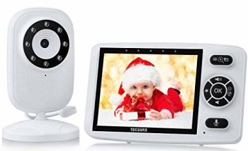 TOGUARD Video Baby Monitor with Digital Cam with 3.5 Inch LCD 1000ft 2.4GHz Wireless Transmission with Infrared Night Vision Two Way Talk VOX Auto Wake-up Temperature Sensor Multiple Cameras Supported