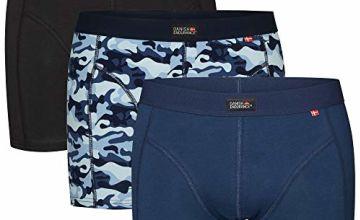 DANISH ENDURANCE Men's Cotton Trunks 3 Pack, Stretchy Soft, Classic Fit Underwear, Boxer Shorts
