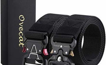 "Tactical Belt,1.9""/1.7""/1.5""Quickly Unlock Multifunction Zinc Alloy Buckle Nylon Material Belts"