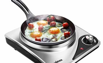 Cusimax Electric Hot Plate for Cooking Portable Electric Hob, Cooktop Table Top Hob, Stainless Steel