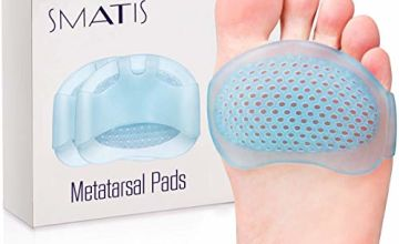 Metatarsal Pads for Women and Men, 4PCS Ball of Foot Cushion Foot Pads Heel Cushions for Shoes for Metatarsalgia Neuroma Mortons Neuroma Pads Atrophy Burning Sensations Relieve Pain