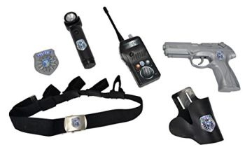 Simba 108102667 Patrol inc Belt, Pistol, Holster, Walkie-Talkie, Working Flashlight & Badge | Kids Police Costume Set | Ages 3+