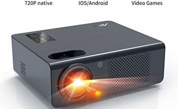 Artlii Energon HD Video Projector Home Projector Support 1080P Dolby HiFi Stereo LED Movie Projector With Zoom Compatible with HDMI VGA USB AV TV Stick Smartphone for Party Games Remote Learning