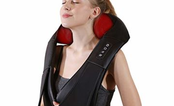 iKristin Neck and Shoulder Massager Shiatsu Massage Deep Tissue with Heat for Back Pain Muscle Pain Relief Relax in Office & Home Car