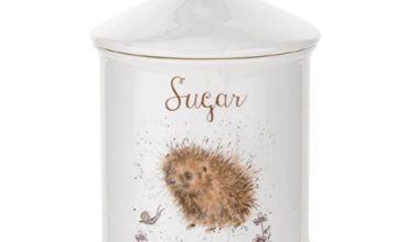 Wrendale by Royal Worcester Sugar Canister (Hedgehog), Bone China, Multi-Colour, 10.5 x 10.5 x 15.5 cm