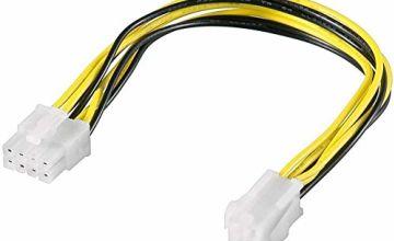 Premium Cord 8-Pin Male to P4 4-Pin Female Power Supply