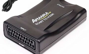 AMANKA SCART To HDMI Converter 1080P SCART to HDMI Adapter for Smartphones to HDTV STB PS3 Sky DVD Blu-ray