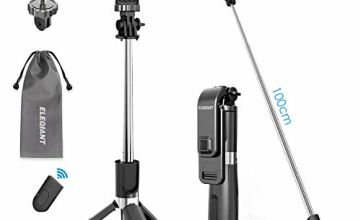 ELEGIANT Bluetooth Selfie Stick Tripod, Mini Extendable Selfie Stick with Wireless Remote and Tripod Stand 3 in 1 360 ° Rotation Suitable for IOS Andriod Phones and other 3.5-6.2 Inches Smartphone