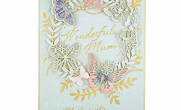 Boxed Mother's Day Card for Mum from Hallmark - Butterfly Wreath Design
