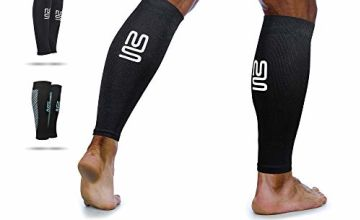Calf Leg Compression Sleeves by Modetro Sports Shin Splints & Leg Cramp Support